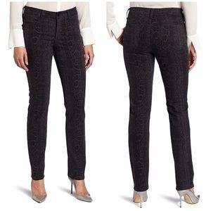 New NYDJ Sheri Slim Python Print Jeans - Petite
